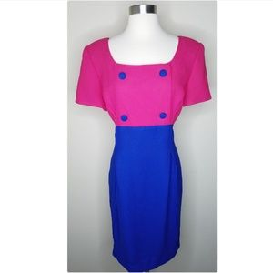 Kim Rogers vintage color block sheath dress